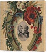 Lincoln And Garfield Wood Print