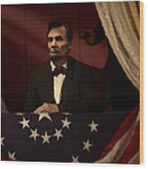 Lincoln At Fords Theater 2 Wood Print