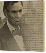 Lincoln At Gettysburg Wood Print