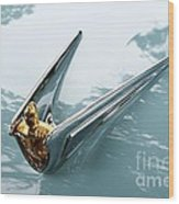 Lincoln Capri Hood Ornament Wood Print