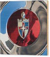 Lincoln Capri Wheel Emblem Wood Print by Jill Reger