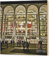 Lincoln Center At Night Wood Print
