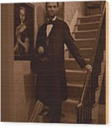 Lincoln Descending Staircase Wood Print
