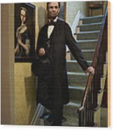 Lincoln Descending Stairs 2 Wood Print
