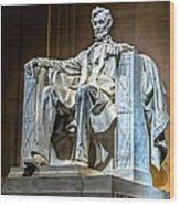 Lincoln In Memorial Wood Print