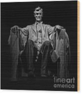 Lincoln In Solitude Wood Print