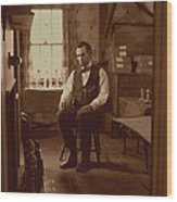 Lincoln In The Attic Wood Print