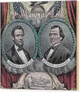 Lincoln Johnson Campaign Poster Wood Print by Marvin Blaine