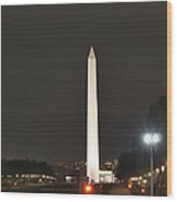 Lincoln Memorial And Washington Monument - Washington Dc - 01132 Wood Print by DC Photographer