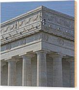 Lincoln Memorial Columns  Wood Print by Susan Candelario