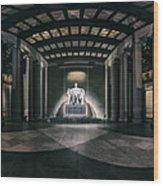 Lincoln Memorial Wood Print by Eduard Moldoveanu