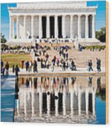Lincoln Memorial Wood Print by Greg Fortier
