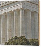 Lincoln Memorial Pillars Wood Print