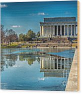 Lincoln Memorial Reflection Wood Print