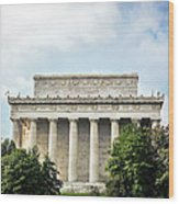 Lincoln Memorial Side View Wood Print