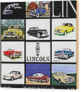 Poster Of Lincoln Cars Wood Print