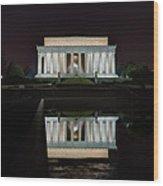 Lincoln Reflection Wood Print