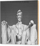 Lincoln Sitting Wood Print