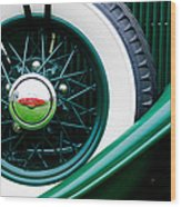 Lincoln Spare Tire Emblem Wood Print