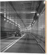Lincoln Tunnel Drive  Wood Print