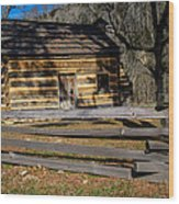 Lincoln's Boyhood Home Wood Print by Mark Bowmer