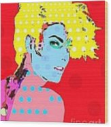 Linda Evangelista Wood Print by Ricky Sencion
