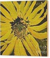 Linda's Arizona Sunflower 2 Wood Print