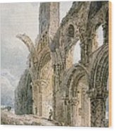 Lindisfarne Abbey Wood Print