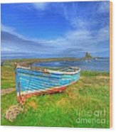 Lindisfarne By The Sea Wood Print
