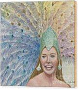 Lindsay  Carnival Queen Wood Print