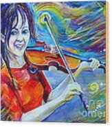 Lindsey Stirling Magic Wood Print