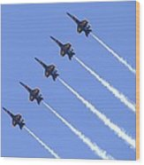 Line Abreast Pass Wood Print