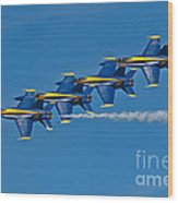 Line Astern- Blue Angels Wood Print