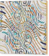 Line Movement Wood Print