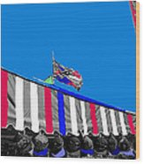 Line Of Hats Tent Us Confederate Flags Tucson Arizona 1984-2012 Wood Print