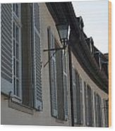 Line Of Shuttered Windows Wood Print