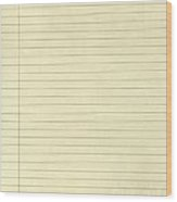 Lined Yellow Paper Wood Print