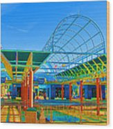 Lines In Colors Wood Print by Wendy J St Christopher