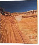 Lines In Sandstone Wood Print