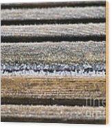 Lines Of Ice Wood Print