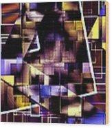 Lines Vs Diagonals Wood Print by Mario Perez