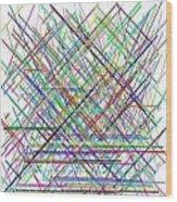 Lines.3 Wood Print