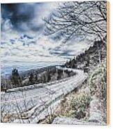 Linn Cove Viaduct Winter Scenery Wood Print