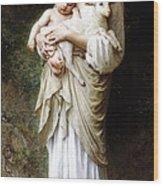 L'innocence By Bouguereau Wood Print by Bouguereau