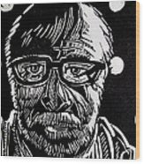 Lino Cut Charlie Spear Wood Print by Charlie Spear