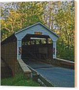 Linton Stevens Covered Bridge Wood Print