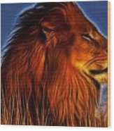 Lion - King Of Animals Wood Print