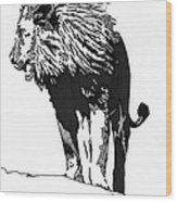 Lion 5x7 Card Wood Print