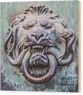 Lion And Snake Wood Print