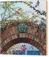 Lion Arch With Flowers Wood Print